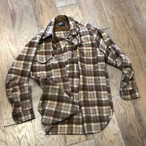 Pendleton made in USA LG wool flannel